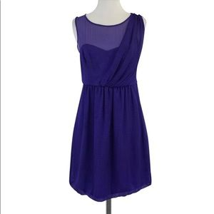 Tibi Purple Sweetheart Mini Dress